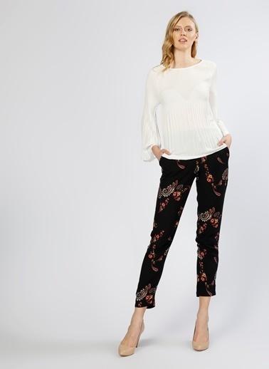 Vero Moda Çiçekli Pantolon Lacivert